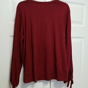 Bow-Sleeve Crewneck Top Wilt Clearance Sale Offer Factory Price 714c4Pa